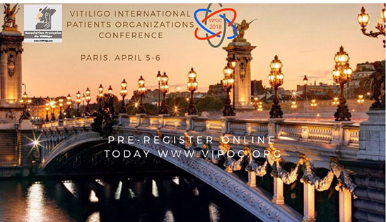 First Vitiligo International Patient Organizations Conference Paris on 5th and 6th April 2018